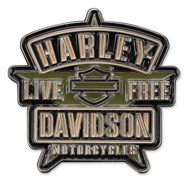 Harley-Davidson Military H-D Star 2D Die Cast Pin w/ Enamel Black Fill P343942 - Wisconsin Harley-Davidson
