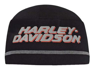 Harley-Davidson Men's Printed H-D Script Mesh 2-Panel Skull Cap - Black SK51680 - Wisconsin Harley-Davidson