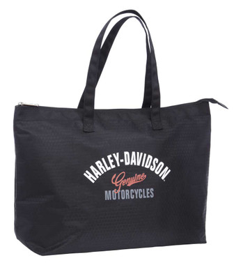 Harley-Davidson Women's Tail of Dragon Light-Weight Shopper Tote 99914-DRAGON - Wisconsin Harley-Davidson