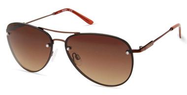 Harley-Davidson Women's Fashion Aviator Sunglasses, Brown Frame & Gradient Lens - Wisconsin Harley-Davidson