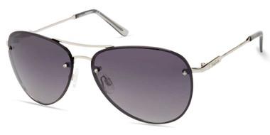 Harley-Davidson Women's Fashion Aviator Sunglasses, Silver Frame & Smoke Lenses - Wisconsin Harley-Davidson