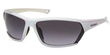 Harley-Davidson Men's Geometric Sunglasses, Metallic Silver Frame & Smoke Lens - Wisconsin Harley-Davidson