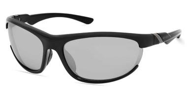 Harley-Davidson Men's Sport Wrap Sunglasses, Shiny Black Frame & Silver Lenses - Wisconsin Harley-Davidson