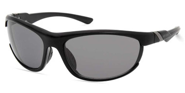 Harley-Davidson Men's Sport Wrap Sunglasses, Matte Black Frame & Smoke Lenses - Wisconsin Harley-Davidson