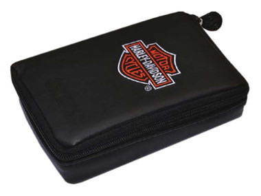 Harley-Davidson Dart Big Pack Zipper Case w/ Accessory Clear Tube - Black 61941 - Wisconsin Harley-Davidson