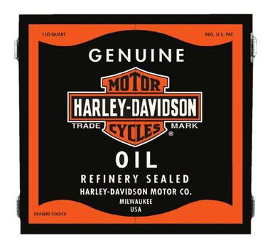 Harley-Davidson Genuine Oil Can Dart Board Cabinet - Black Wooden Cabinet 61912 - Wisconsin Harley-Davidson