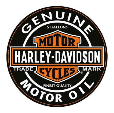 Harley-Davidson® Motor Oil Bar & Shield Logo Round Puzzle - 26.5 inch 6022D - Wisconsin Harley-Davidson