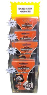 Harley-Davidson Limited Edition Series 2 Poker Chips Pack, Black & White 6702D - Wisconsin Harley-Davidson