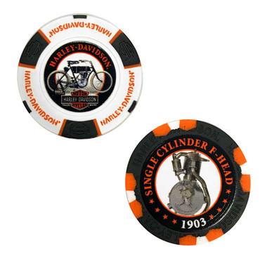 Harley-Davidson Limited Edition Series 1 2pk Poker Chip Pack, Black/White 6701D - Wisconsin Harley-Davidson