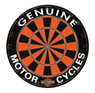 Harley-Davidson Genuine Competition Dartboard w/ Harley Colors - 18 in. 61976 - Wisconsin Harley-Davidson