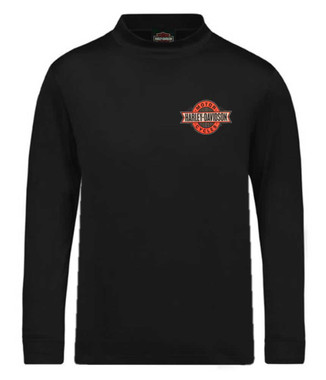 Harley-Davidson Men's H-D Banner Stripe Mock-Neck Long Sleeve Shirt, Black - Wisconsin Harley-Davidson