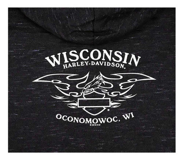 Harley-Davidson Women's Beyond H-D Zip-Up Hoodie - Black & Purple R002962 - Wisconsin Harley-Davidson