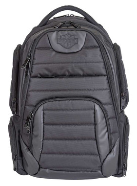 Harley-Davidson Bar & Shield Quilted Backpack - Organized & Padded, Black 99319 - Wisconsin Harley-Davidson
