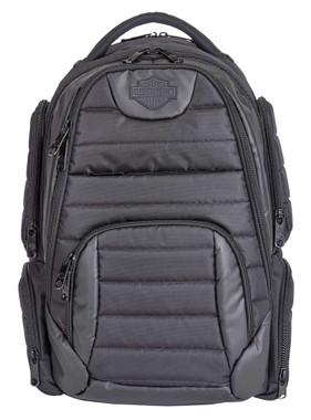 Harley-Davidson Bar & Shield Quilted Backpack - Organized & Padded, Black 99319 - Wisconsin Harley-Davidson