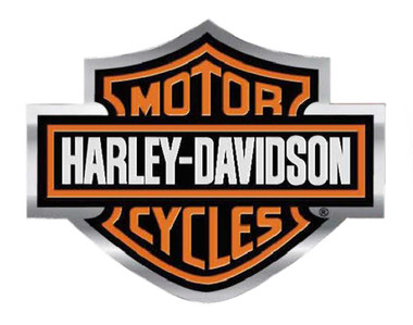 Harley-Davidson Bar & Shield Logo Bendable Aluminum Decal, Orange/Silver CG41700 - Wisconsin Harley-Davidson