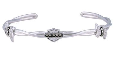 Harley-Davidson Women's Bling Barb Wire Cuff Bracelet, Sterling Silver HDB0432 - Wisconsin Harley-Davidson