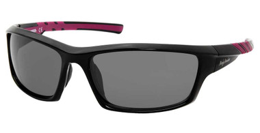 Harley-Davidson Women's Rubberized Sport Sunglasses, Black Frame & Smoke Lenses - Wisconsin Harley-Davidson