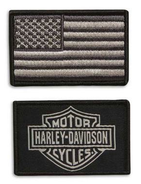 Harley-Davidson B12 Replacement Embroidered & Woven Patch Set 98138-20VR - Wisconsin Harley-Davidson