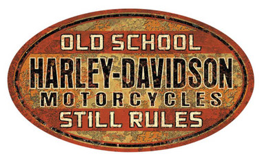 Harley-Davidson Old School Still Rules Tin Sign, 17.5 x 10.4375 inches 2012061 - Wisconsin Harley-Davidson