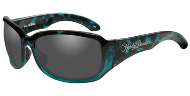 Harley-Davidson Women's Catwalk Sunglasses, Gray Lenses & Green Frames HACTW01 - Wisconsin Harley-Davidson
