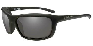 Harley-Davidson Men's Pipes Sunglasses, Silver Flash Lenses/Black Frames HAPIP02 - Wisconsin Harley-Davidson