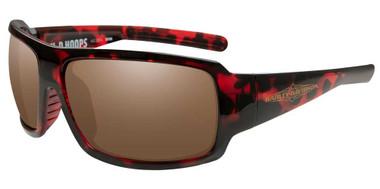 Harley-Davidson Women's Hoops H-D Sunglasses, Red Tortoise Demi Frames HAHPS06 - Wisconsin Harley-Davidson