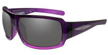 Harley-Davidson Women's Hoops Sunglasses, Gray Lenses & Purple Frames HAHPS01 - Wisconsin Harley-Davidson