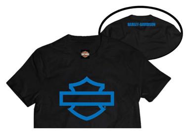 Harley-Davidson Little Boys' Bar & Shield Short Sleeve T-Shirt, Black 1580057 - Wisconsin Harley-Davidson