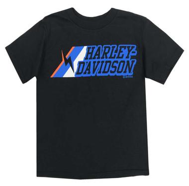 Harley-Davidson Little Boys' Lightening Bolt Short Sleeve T-Shirt, Black 1580053 - Wisconsin Harley-Davidson