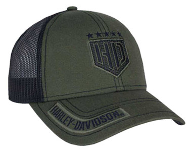 Harley-Davidson Men's H-D Badge Colorblocked Trucker Baseball Cap BCC34394 - Wisconsin Harley-Davidson