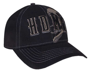 Harley-Davidson Men's Grim Skull Embroidered Adjustable Baseball Cap BCC34130 - Wisconsin Harley-Davidson