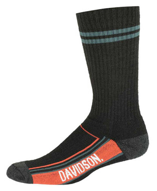 Harley-Davidson Men's Vented Wool Performance Riding Socks, Black D99236270-001 - Wisconsin Harley-Davidson