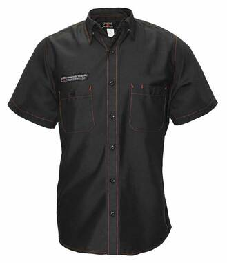 Harley-Davidson Men's Screamin' Eagle Contrast Stitch Woven Shop Shirt - Black - Wisconsin Harley-Davidson