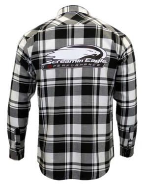 Harley-Davidson Men's Screamin' Eagle Plaid Flannel Long Sleeve Shirt S68BW - Wisconsin Harley-Davidson