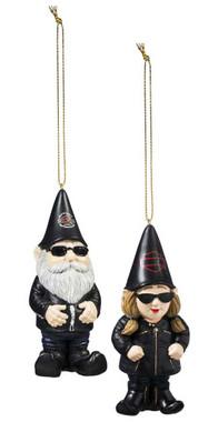Harley-Davidson Sculpted Male & Lady Biker Gnome Hanging Ornament Set, Black - Wisconsin Harley-Davidson