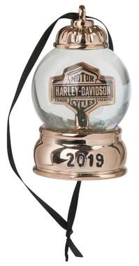 Harley-Davidson 2019 Mini Snowglobe Ornament - Copper Metallic HDX-99166 - Wisconsin Harley-Davidson