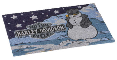 Harley-Davidson Biker Snowman Holiday Entry Mat, 30 x 18 inches HDX-99149 - Wisconsin Harley-Davidson