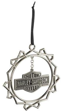 Harley-Davidson Custom Trademark Bar & Shield Logo Pewter Ornament HDX-99162 - Wisconsin Harley-Davidson