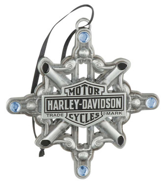 Harley-Davidson Motorcycle Parts Snowflake Embellished Ornament HDX-99160 - Wisconsin Harley-Davidson