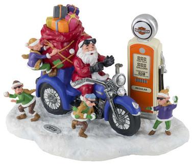 Harley-Davidson Custom Sculpted 2019 Biker Santa & Elves Figurine HDX-99146 - Wisconsin Harley-Davidson