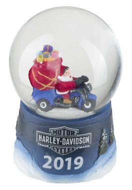 Harley-Davidson Winter 2019 Sculpted Biker Santa Glass Mini Snow Globe HDX-99143 - Wisconsin Harley-Davidson