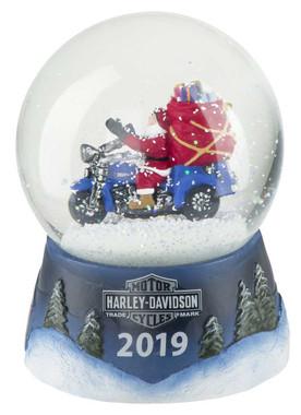 Harley-Davidson Winter 2019 Sculpted Biker Santa Glass Snow Globe HDX-99142 - Wisconsin Harley-Davidson