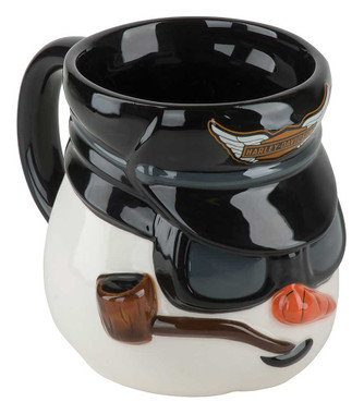 Harley-Davidson Biker Snowman Sculpted Coffee Mug, 16 oz. Black/White HDX-98625 - Wisconsin Harley-Davidson
