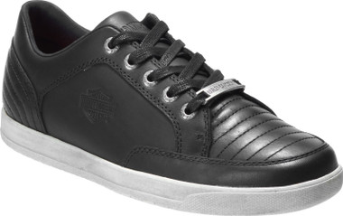Harley-Davidson Men's Holmes Black 3.25-Inch Lifestyle Leather Sneakers D93628 - Wisconsin Harley-Davidson