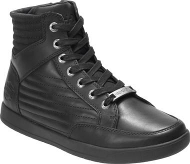 Harley-Davidson Men's Bridges 5-Inch Black Leather Casual Sneaker Boots, D93629 - Wisconsin Harley-Davidson