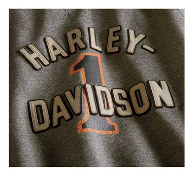 Harley-Davidson Men's #1 Racing Logo Pullover Sweatshirt, Gray 96055-20VM - Wisconsin Harley-Davidson
