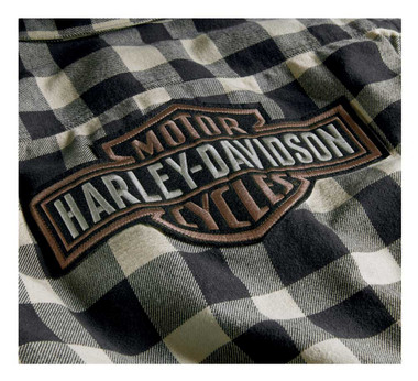 Harley-Davidson Men's Buffalo Plaid Button Front Long Sleeve Shirt 96010-20VM - Wisconsin Harley-Davidson