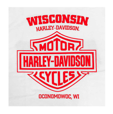 Harley-Davidson Men's Distressed American Racer Sleeveless Tank Top - White - Wisconsin Harley-Davidson