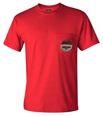 Harley-Davidson Men's Integrity H-D Chest Pocket Short Sleeve Cotton Tee - Red - Wisconsin Harley-Davidson