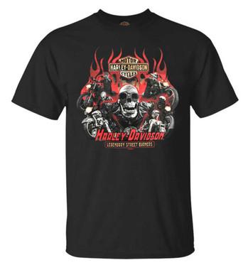 Harley-Davidson Men's Pursue Skeleton Short Sleeve Crew-Neck T-Shirt, Black - Wisconsin Harley-Davidson
